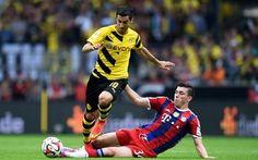 Scarica sfondi calcio, Borussia Dortmund Henrikh Mkhitaryan, Pierre Hojbjerg, Zweite, FC Bayern Monaco