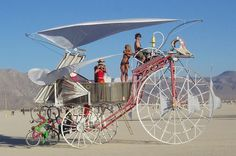 Burning Man – Daisy the Solar Powered Tricycle. eatART Founder Rob Cunningham at | We Know How To Do It
