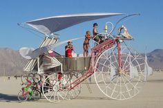 Burning Man - Daisy the Solar Powered Tricycle. eatART Founder Rob Cunningham at the helm. Artist: Bob Schneeveis