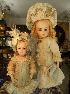 These are the most beautiful antique French Doll Dresses, I have collected within 25 years.