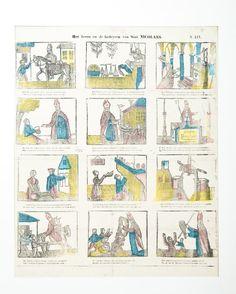 Centsprent Het leven en de bedrijven van Sint Nicolaes ca. 1840