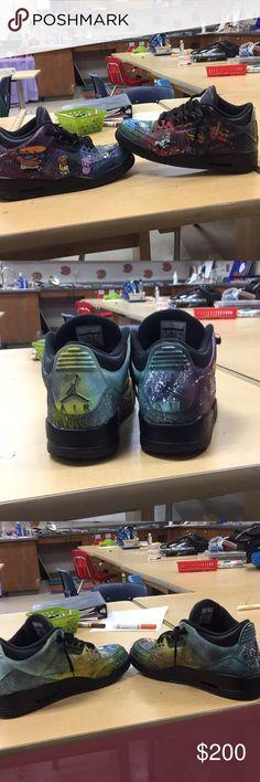 c3259a61f1cb Cartoon Network 3s Jordan black Cartoon Network customs Jordan Shoes  Sneakers