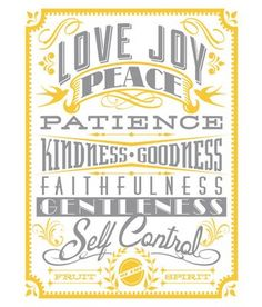 """Stay focused on the values that really matter with the GreenBox Art Murals That Stick """"Fruit of the Spirit"""" Wall Art. Featuring vintage style typography, the mural is easily stuck and unstuck without wall damage. Kids Canvas Art, Wall Canvas, Wall Art, Wall Decor, Nursery Canvas, Room Decor, Mural Wall, Peace Crafts, Spirit Tattoo"""
