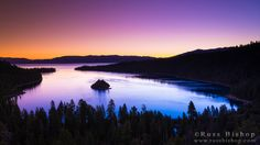 Dawn light over Emerald Bay on Lake Tahoe, Emerald Bay State Park, California USA / © Russ Bishop ~ Click image to purchase a print or license