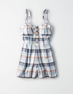50f223fe164 AE Plaid Corset Romper by American Eagle Outfitters