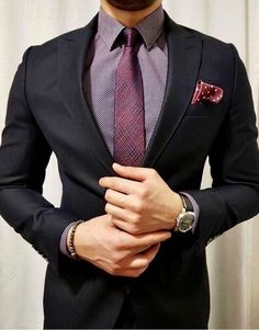 Black Men Suits Groom Wedding Tuxedo New Fashion Bridegroom Suits Man Blazer Bridegroom(Jacket+pant) Mens Fashion Suits, Mens Suits, Groom Suits, Fashion Menswear, Black Suit Combinations, Terno Slim Fit, Black Suit Men, Style Masculin, Men's Fashion Styles
