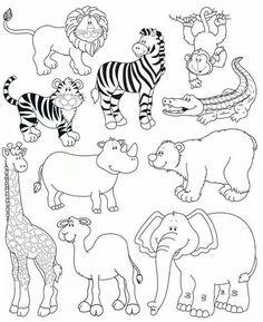 tiere zum ausmalen - nilpferd, löwe, giraffe und affe   meine pinnwand   malvorlagen tiere