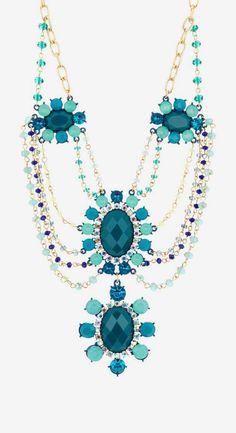 Floral Drape Drop Necklace