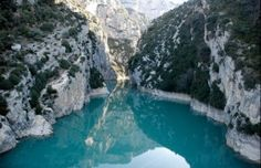 Verdon Gorge, France: Limestone canyon with turquoise waters