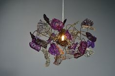 Ceiling light - purple & gray colors leaves, chandelier. by yehudalight on Etsy https://www.etsy.com/listing/157907521/ceiling-light-purple-gray-colors-leaves
