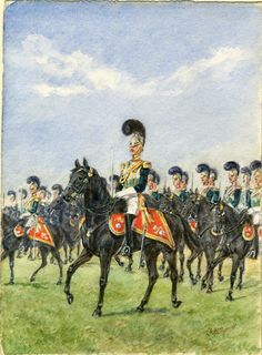 British; Royal Horse Guards,1830 by Reginald Augustus Wymer