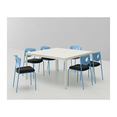 STOLJAN Silla sala de juntas - azul/negro - IKEA