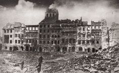Warsaw was completely destroyed by the Germans during the Warsaw Uprising. The city was once extremely beautiful just today returned to its former glory.