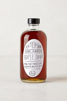 Oil Field Farm Maple Syrup // Anthropologie // Great packaging