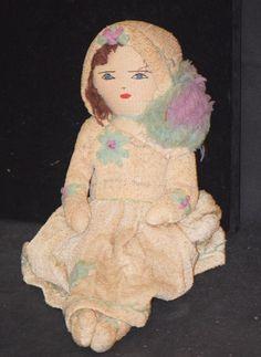 Old Cloth Doll Unusual Rag Doll Rag Doll