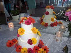 Gerber Daisy Wedding Cake Wilmington NC, Carolina Cakes & Confections