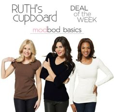 The perfect Modbod layering tees are on sale! Check out the great deals (and FREE SHIPPING!) on Ruth's Cupboard. #fashion #winterstyle