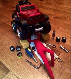 Mechanic | 31 Elf On The Shelf Ideas Guaranteed To Win Christmas