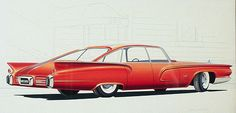1950s Chrysler Imperial Concept Rendering by Brownlee
