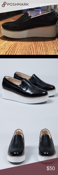 """Sol Sana Wedge Loafers 2"""" heel fits true to size worn TWICE! Sol Sana Shoes Flats & Loafers"""