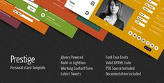 20 amazing personal html Vcard Templates you should buy - Designmain.com