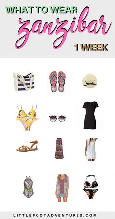 What to wear for a week in Zanzibar. I hope will make your packing experience much easier to dress 'appropriately' in the island. Read more at www.littlefootadventures.com Zanzibar | Africa | Tanzania | Packing | List | Packing Tips | Packing Advice | Planning | Wear #Africa #Zanzibar #Tanzania #Clothes #Wear #Packing #Tips #List #Packingtips