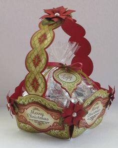 Christmas Vintage Labels Gift Basket Marisa Job