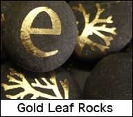 Gold Leaf Rocks. Also a bunch of other cool little crafty things on this blog.