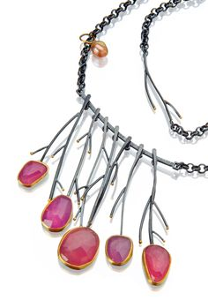 Pink Meadow necklace Sydney Lynch