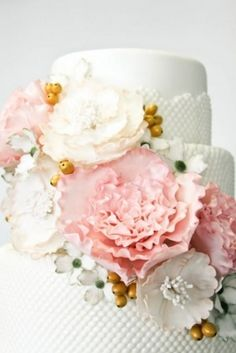 242 best artificial silk flowers images on pinterest in 2018 17 peony wedding cake ideas confetti daydreams hobnail textured peony wedding cake mightylinksfo