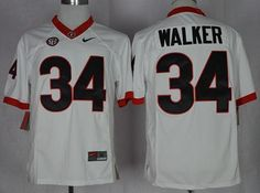 Bulldogs  34 Herschel Walker White Limited SEC Patch Stitched NCAA Jersey 8a66c7253