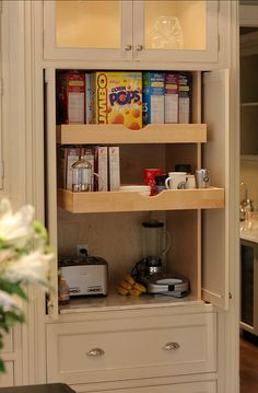 New kitchen pantry storage coffee stations Ideas Kitchen Pantry Storage, Kitchen Pantry Design, Kitchen Pantry Cabinets, Storage Cabinets, Kitchen Countertops, Kitchen Organization, New Kitchen, Organization Ideas, Storage Ideas
