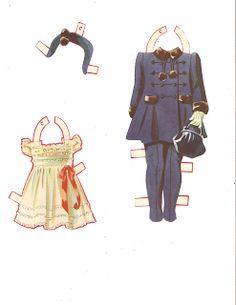 Dionne Quintuplets Paper Dolls (21 of 26): Cecile, #3488 Merrill 1940 | Miss Missy Paper Dolls