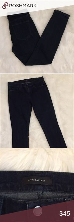 "Ann Taylor women's skinny ankle jeans Ann Taylor women's skinny jeans are in great condition. Never been worn, but tags have been remove. No stains, fade, or holes anywhere on these awesome jeans. They are skinny ankle modern fit jeans. Size 6 in women's. (Measurements) waist-15.5""• length-36"" • rise-8.5"" • inseam-28"" Ann Taylor Jeans Skinny"
