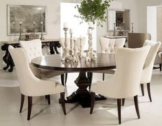 Formal Dining Room Round Table (73)