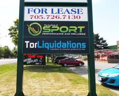 Outdoor business signage recently completed by Speedpro Signs Barrie Ontario!