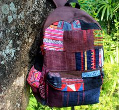Tribal Backpack Heavy Canvas and Ethnic by SiameseDreamDesign, $79.00