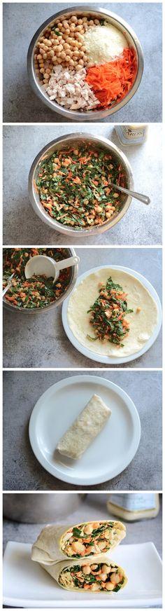 Chicken Kale Caesar Wraps