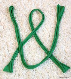 celtic knot turban headband tutorial in process