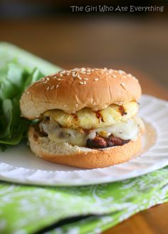 Spicy Hawaiian Chicken Burgers