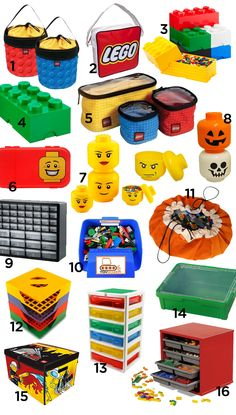 Lego Storage. Lots of options!  #lego storage www.swoopbags.com