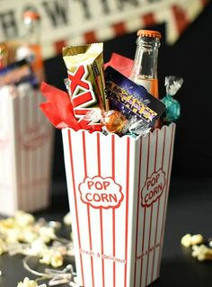 Need ideas for a Movie Night Gift Basket? Heres fun things to fill up your gift & make it something theyll will love! A perfect Movie Night Gift Idea. #movienight #giftidea #birthdaygift