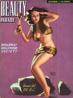 "Oct 1941 vintage Cover of Robert Harrison's ""Beauty Parade"" magazine"