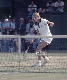 Bjorn Borg of Sweden in action at Wimbledon on 3rd July 1973. Borg, seeded sixth, lost in the quarter-finals to Roger Taylor.