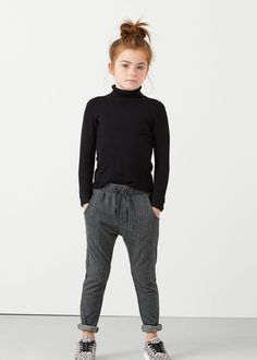 Striped trousers -  Kids | MANGO Kids USA