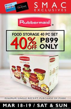 Avail this Rubbermaid food storage for only P899 by presenting your SMAC or Ace Hardware Rewards Card and a single receipt purchase of P3,000. (Promo valid from March 18 to 19)   #OnlyHereAtSMDasma #iLoveSMDasma #SMSale #fashion #style #stylish #love #me #cute #photooftheday #nails #hair #beauty #beautiful #design #model #dress #shoes #heels #styles #outfit #purse #jewelry #shopping #glam #cheerfriends #bestfriends #cheer #friends #indianapolis #cheerleader #allstarcheer #cheercomp  #sale…