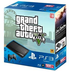 Playstation 3 500GB + GTA V - Hardware - Spel - CDON.COM