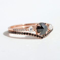 15 Unique Fitted Engagement Ring and Wedding Band Combos That Just Belong Together via Brit Co