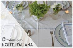 #cdainspira Noite italiana para receber os amigos com charme e de forma divertida, cheio de delícias