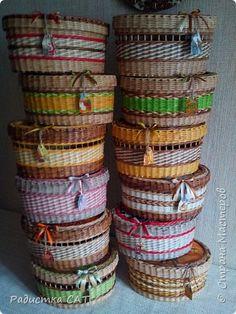 Поделка изделие Декупаж Плетение Никаких цветочков   Бумага газетная Салфетки Трубочки бумажные фото 1